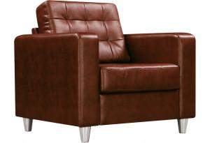 Кресло кожаное Камелот Коричневое