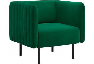 Кресло тканевое Рио тёмно-зелёный (Велюр)