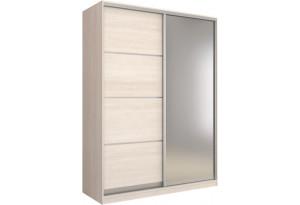 Шкаф-купе двухдверный Манхеттен 180 см (шамони светлый+зеркало)