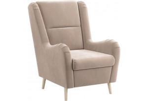 Кресло тканевое Грейс бежевый (Велюр)