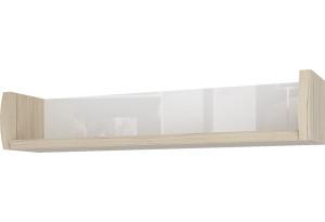 Полка Корсика 104/20 см (дуб санремо/белый)