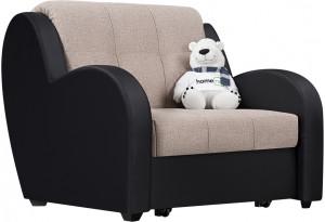 Кресло тканевое Барон темно-бежевый (Рогожка + Экокожа)