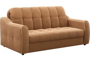 Диван тканевый прямой Флэтфорд-2 140 см коричневый/бежевый (Рогожка)