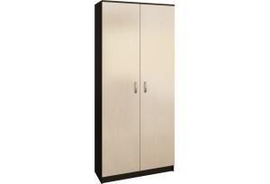 Шкаф распашной двухдверный Хельга вариант №1 (венге/дуб молочный)