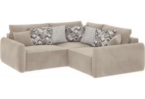 Модульный диван Портленд вариант №6 светло-бежевый (Вел-флок)
