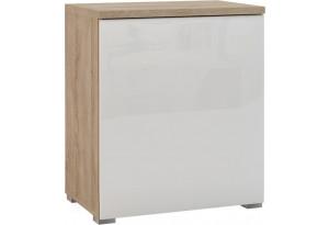 Шкаф распашной однодверный Верона вариант №1 (дуб сонома/белый глянец)