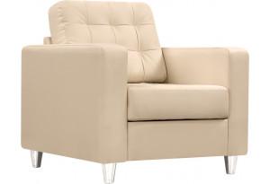 Кресло кожаное Камелот Бежевое