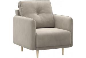 Кресло тканевое Голливуд серый (Велюр)