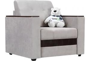 Кресло тканевое Атланта светло-серый (Велюр)