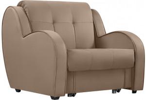 Кресло тканевое Барон коричневый (Велюр)