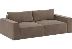 Модульный диван Портленд вариант №9 темно-бежевый (Вел-флок)