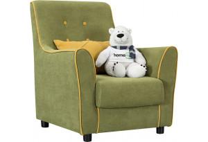Кресло тканевое Флэтфорд фисташковый/желтый (Микровелюр)