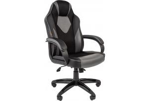 Игровое кресло Chairman game 17 (черный/серый)