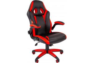 Игровое кресло Chairman game 15 черный/красный