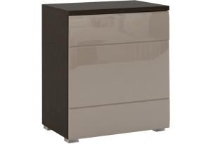 Шкаф распашной однодверный Верона Люкс 70 см вариант №1 (венге/капучино глянец)