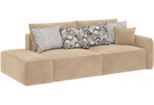 Модульный диван Портленд вариант №2 песочный (Вел-флок, правый)