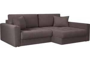 Модульный диван Брайтон вариант №2 графитовый (Рогожка)