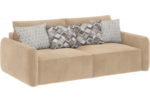 Модульный диван Портленд вариант №7 песочный (Вел-флок)