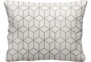Декоративная подушка Портленд 60х48 см вариант №2 серый (Жаккард)