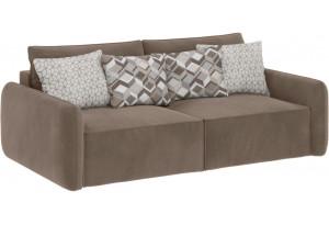 Модульный диван Портленд вариант №7 темно-бежевый (Вел-флок)
