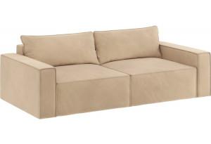 Модульный диван Портленд вариант №9 песочный (Вел-флок)