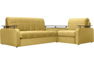 Желтые угловые диваны