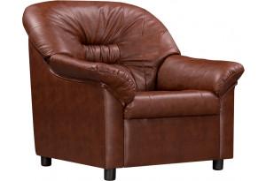 Кресло кожаное Женева Коричневый (Кожаное изделие)