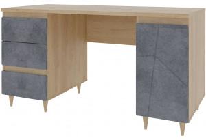 Письменный стол Монца (дуб небраска/бетон тёмный)