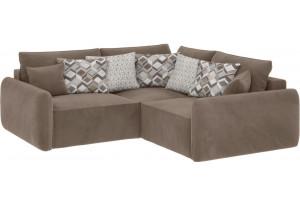 Модульный диван Портленд вариант №6 темно-бежевый (Вел-флок)