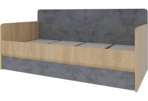 Кровать односпальная 200х90 Монца без подъемного механизма (дуб небраска/бетон тёмный)