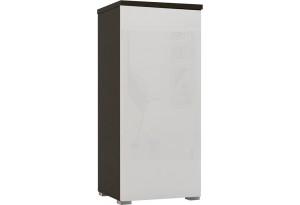 Шкаф распашной однодверный Верона вариант №2 (венге/белый глянец)