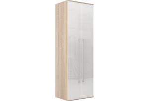 Шкаф распашной двухдверный Бали вариант №2 (белый глянец/дуб сонома)