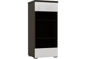 Шкаф распашной однодверный Верона вариант №3 (венге/белый глянец)