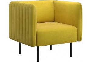 Кресло тканевое Рио горчичный (Велюр)