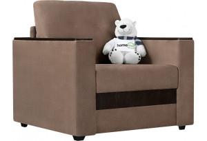 Кресло тканевое Атланта светло-коричневый (Вельвет)