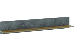 Полка Клео 150 см (моод темный/дуб ривьера)