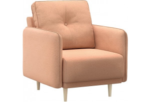 Кресло тканевое Голливуд розовый (Рогожка)