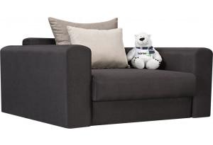 Кресло тканевое Медисон Вариант №1 100 см тёмно-серый (Рогожка)