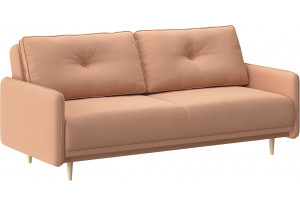 Диван тканевый прямой Голливуд розовый (Рогожка)
