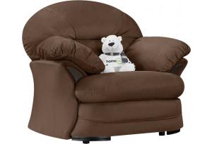 Кресло тканевое Ланкастер темно-коричневый (Велюр)