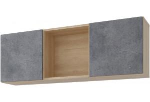 Полка Монца 118/41 см (дуб небраска/бетон тёмный)