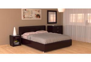 Мягкая кровать 200х160 Малибу вариант №10 с ортопедическим основанием (Шоколад)