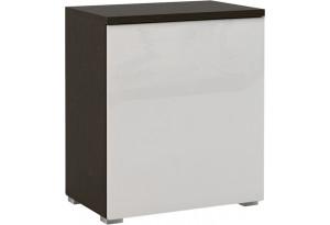 Шкаф распашной однодверный Верона вариант №1 (венге/белый глянец)