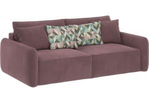 Модульный диван Портленд вариант №7 розово-серый (Велюр)