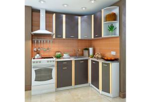 Кухонный гарнитур Лагуна правый угол (белый/венге)