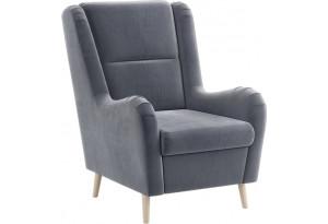 Кресло тканевое Грейс серый (Велюр)