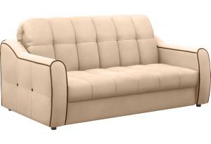 Диван тканевый прямой Флэтфорд-2 140 см бежевый/коричневый (Велюр)