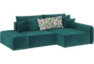 Модульный диван Портленд вариант №3 изумрудный (Микровелюр, правый)