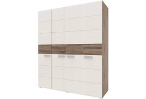 Шкаф распашной 4-х дверный Монро (дуб сонома трюфель/латте)