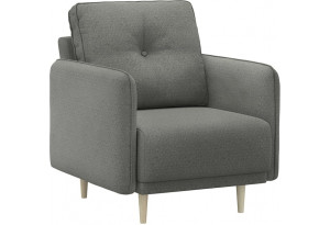 Кресло тканевое Голливуд серый (Рогожка)